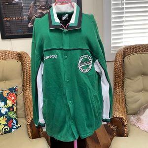 Southpole green sweat track jacket Size L